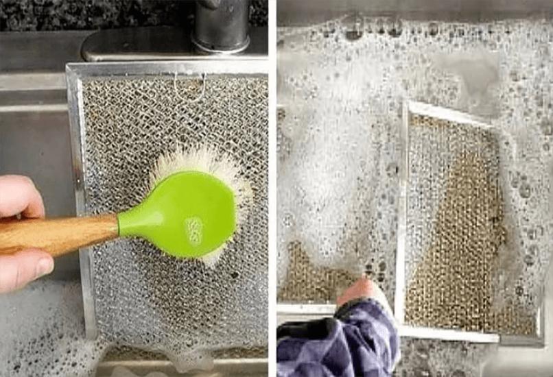 Замачиваем в жидкости для мытья посуды