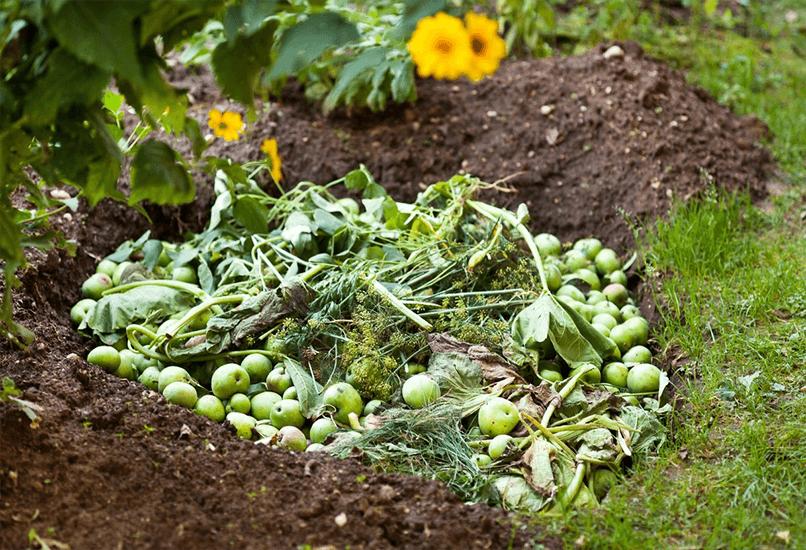 Земляная компостная яма
