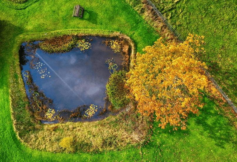 Искусственное озеро в форме трапеции