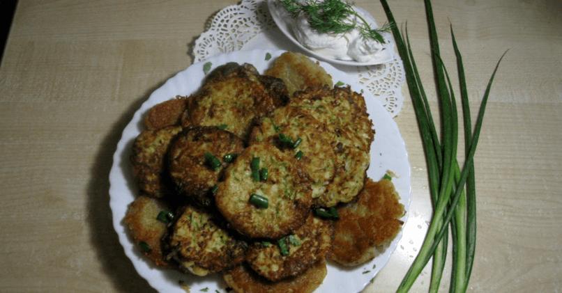 Драники из кабачков и картофеля