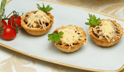 Тарталетки с грибами