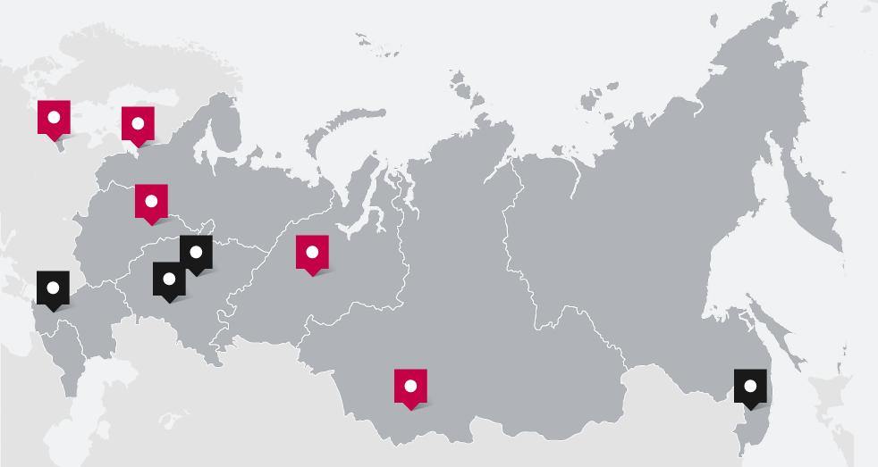 Карта консульских округов